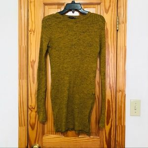 Zara Wool Blend Long Sweater with Slits